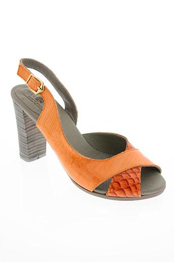 jose saenz chaussures femme de couleur orange