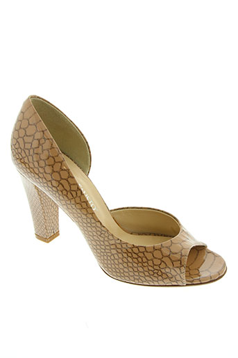 moda di fausto chaussures femme de couleur beige