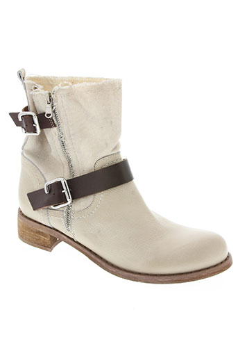 coco et abricot chaussures femme de couleur blanc