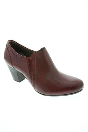 jana chaussures femme de couleur rouge