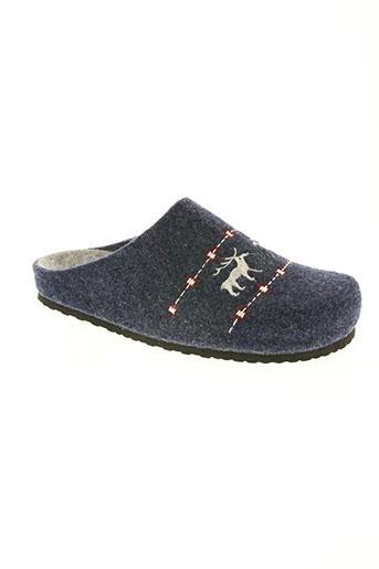 ouf! chaussures homme de couleur bleu