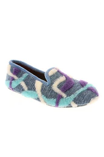 ouf! chaussures femme de couleur bleu