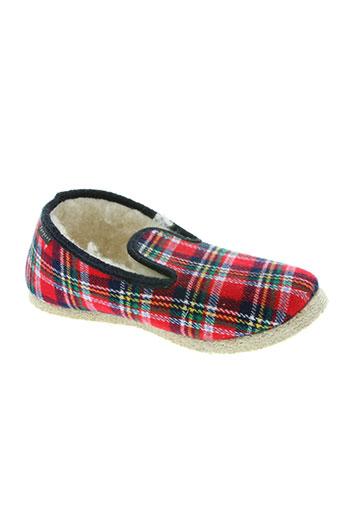 fargeot chaussures garçon de couleur rouge