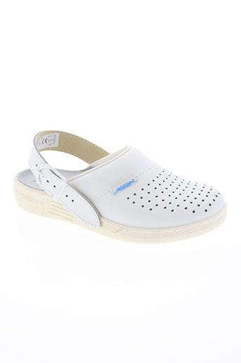 abeba chaussures homme de couleur blanc