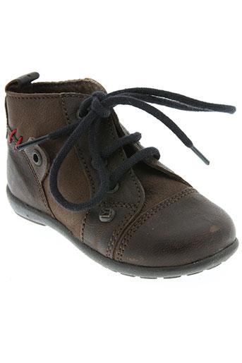 buggy chaussures garçon de couleur marron