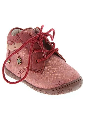minibel chaussures fille de couleur rouge