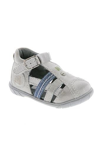 noël chaussures garçon de couleur gris