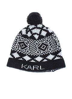 Bonnet noir KARL LAGERFELD pour garçon