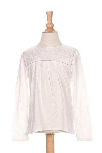 T-shirt manches longues blanc CARREMENT BEAU pour fille