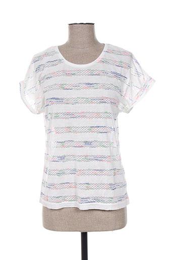 une fille t-shirts fille de couleur blanc