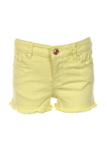 billieblush shorts / bermudas fille de couleur jaune