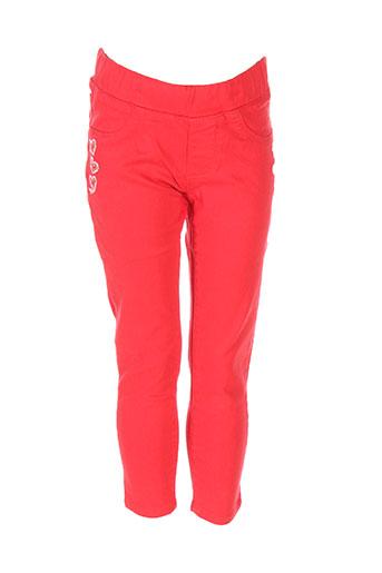 catimini pantalons fille de couleur rouge