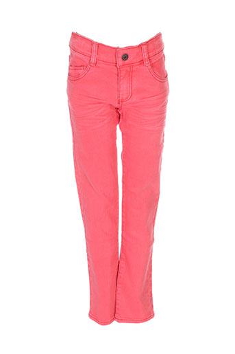 absorba pantalons fille de couleur rouge