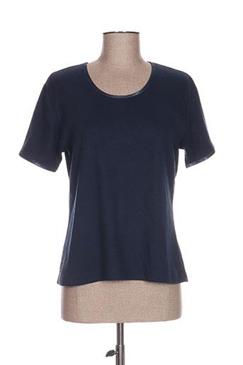 le p'tit marine t-shirts femme de couleur bleu