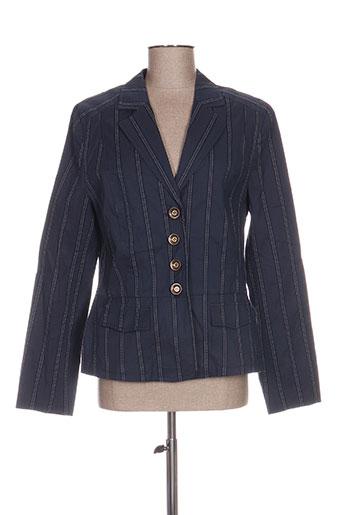 Veste chic / Blazer bleu HUCKE WOMAN pour femme