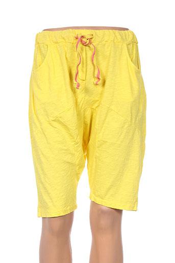chantal b. shorts / bermudas femme de couleur jaune