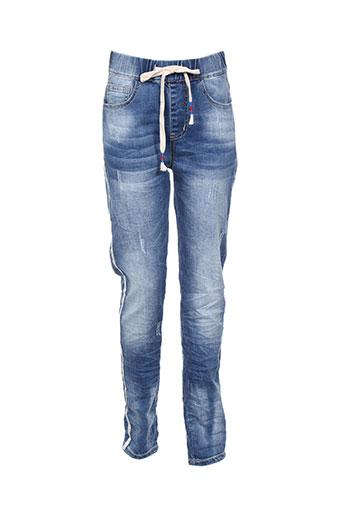 3d jeans femme de couleur bleu