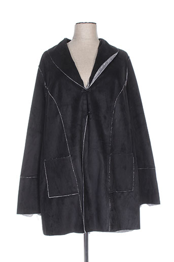 chalou manteaux femme de couleur noir