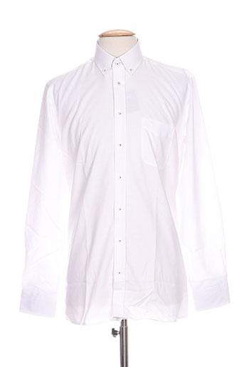 jean chatel chemises homme de couleur blanc