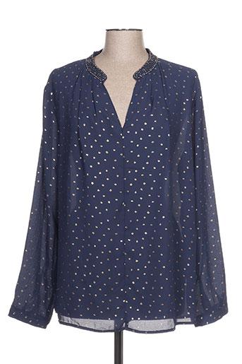 halo paris chemises femme de couleur bleu