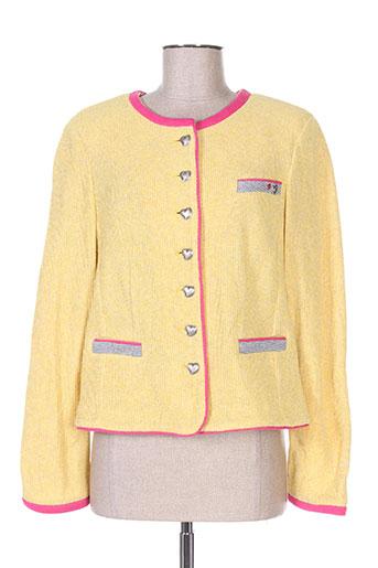 white label vestes femme de couleur jaune
