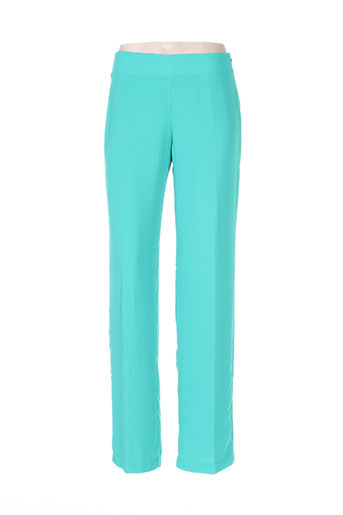 paz torras pantalons femme de couleur vert