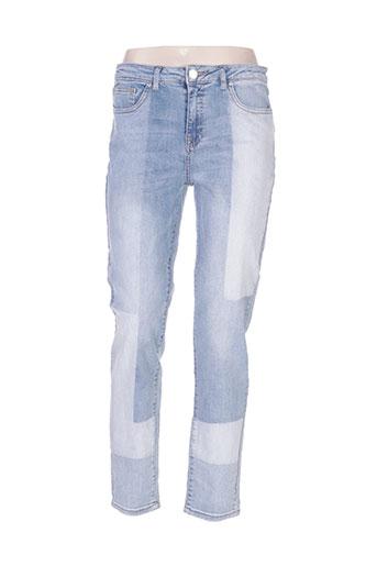 morgan jeans femme de couleur bleu