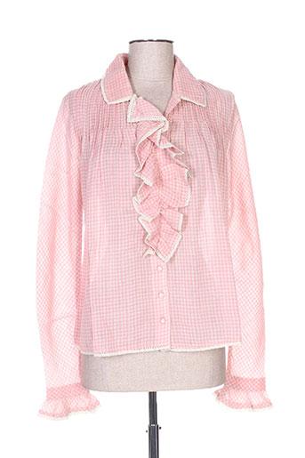 manoush chemises femme de couleur rose