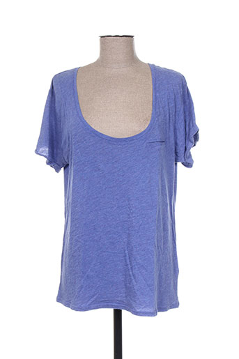 fine collection t-shirts femme de couleur bleu