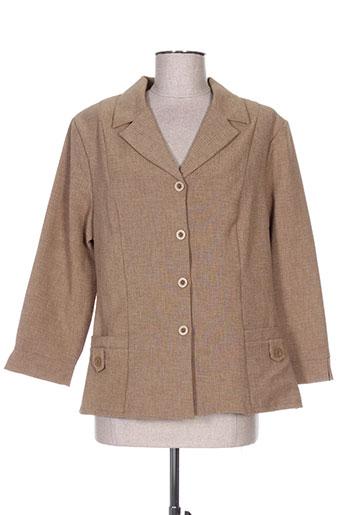 Veste chic / Blazer marron ISA COUTURE pour femme
