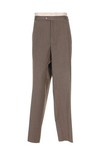 luc saint alban pantalons homme de couleur marron