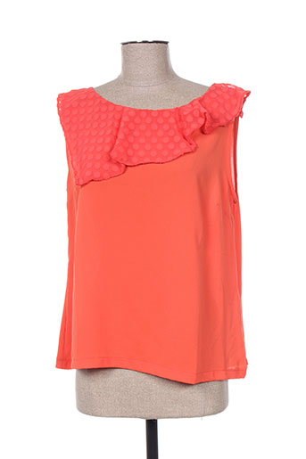 purple jam chemises femme de couleur orange