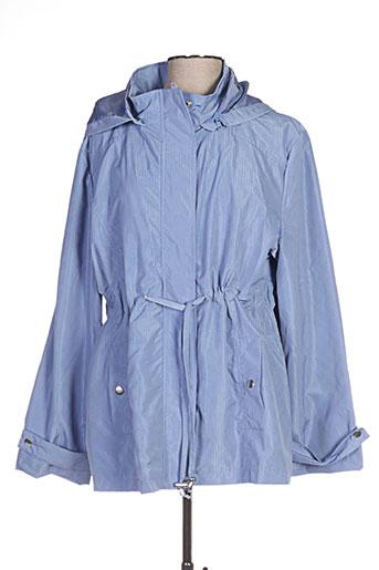 griffon manteaux femme de couleur bleu