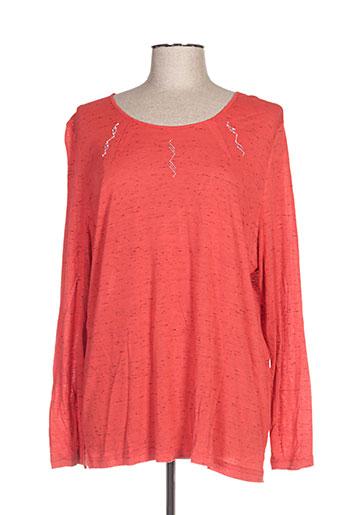 gd t-shirts femme de couleur rouge