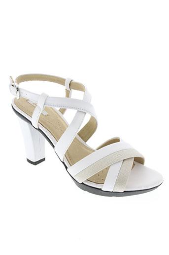 geox chaussures femme de couleur blanc