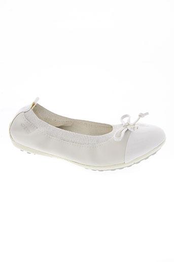 geox chaussures fille de couleur blanc