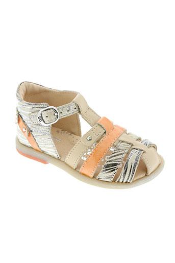 babybotte chaussures fille de couleur orange