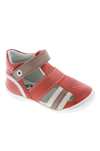 kickers chaussures garçon de couleur rouge