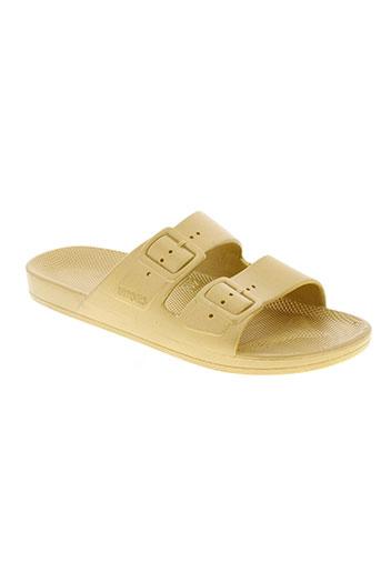 moses chaussures femme de couleur jaune