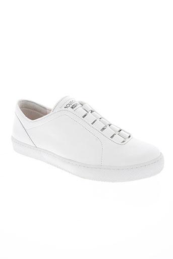 moschino chaussures femme de couleur blanc