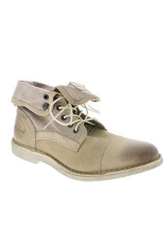 kickers chaussures homme de couleur gris