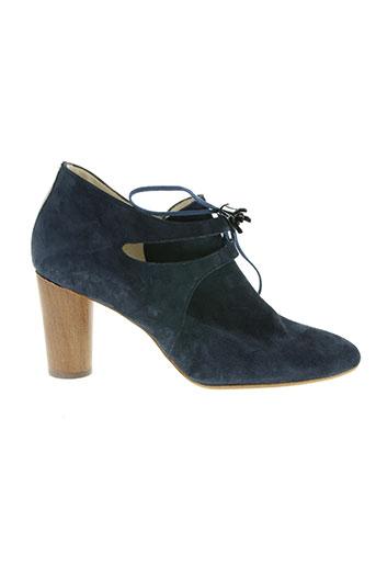 france mode chaussures femme de couleur bleu