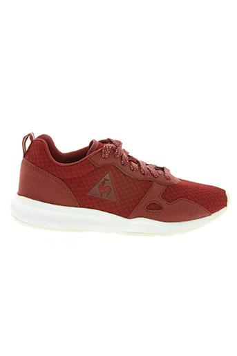 le coq sportif chaussures femme de couleur rouge