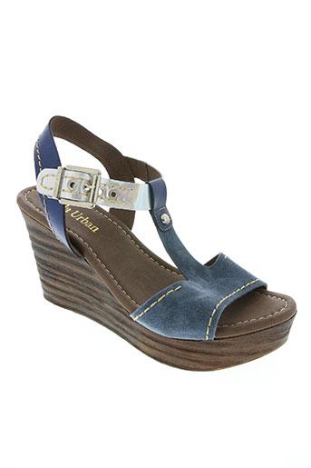 paula urban chaussures femme de couleur bleu