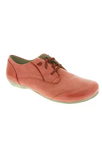 josef seibel chaussures femme de couleur rouge