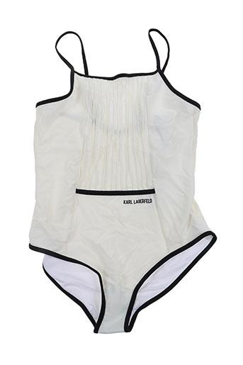 karl lagerfeld maillots de bain fille de couleur blanc