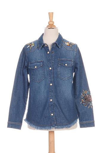 zadig EFFI_CHAR_1 voltaire chemises fille de couleur bleu