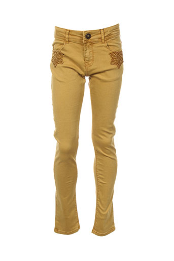 catimini pantalons fille de couleur jaune