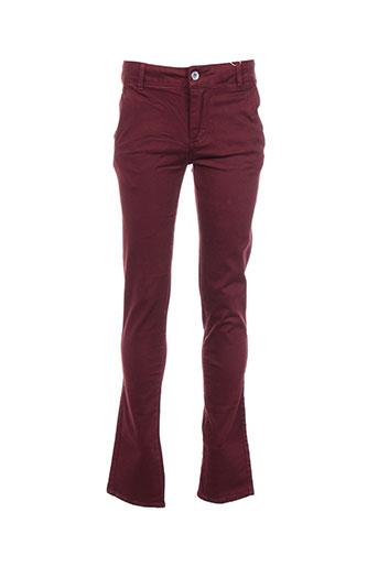 garcia pantalons garçon de couleur rouge