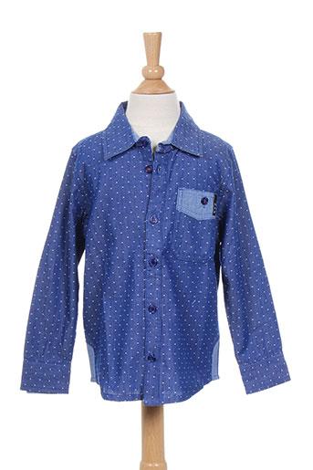 molo chemises garçon de couleur bleu